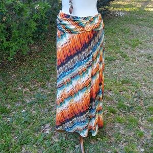 Gorgeous colors BoHo maxi skirt by Robert Louis